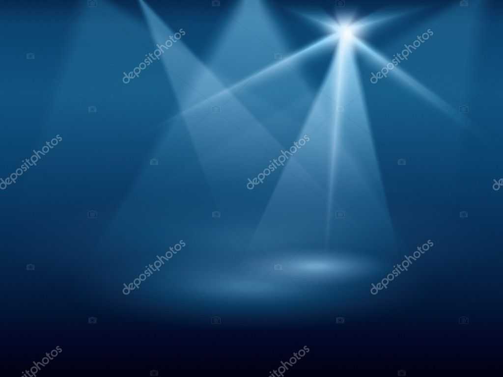 A blue background image of stage lights — Stock Photo #4916564