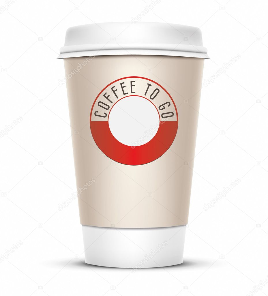 A coffee cup vector illustration with the words coffee to go — Stock Photo #4926601
