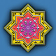 Mandala star — Stock Photo