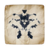 Old paper with Rorschach graphic — Stock Photo