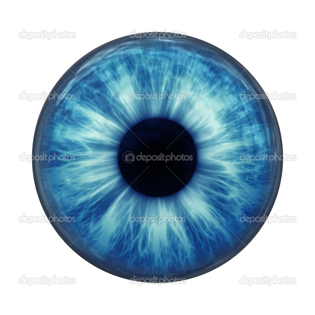An image of a blue eye ball glass — Stock Photo #5028437