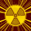Radioactive explosion - Stock Photo