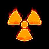 Radioactive fire — Stock Photo