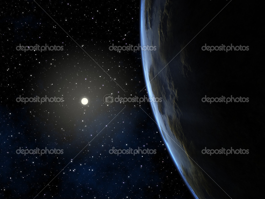 An image of a deep space planet background — Stock Photo #5219733