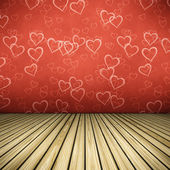 Floor hearts — Stock Photo