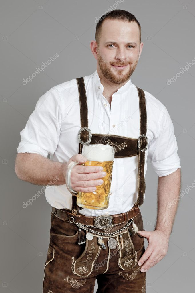 An image of a traditional bavarian man — Stock Photo #5285650