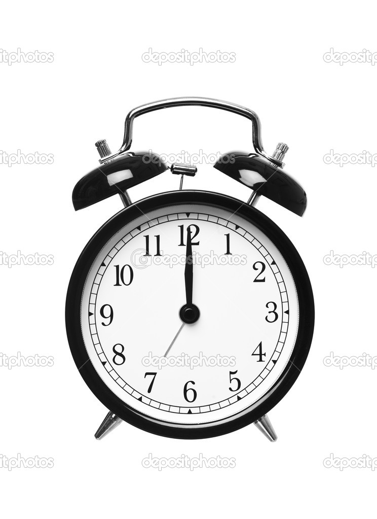 Alarm clock shows Twelwe o`clock � Foto stock � gemenacom #3974470