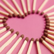 Stock Photo: Matches formed as heart