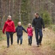 Walking Family — Stock Photo