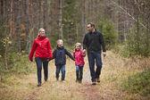 Walking Family — Stock Photo
