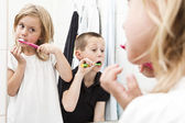 Brushing teeths — Foto Stock