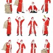 Royalty-Free Stock Photo: Collage of Santa