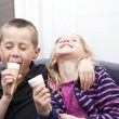 Eating Ice-cream — Stock Photo