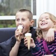 Eating Ice-cream - Stock Photo