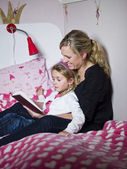 Mother and Daughter storytelling — Stock Photo