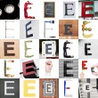 Collage of Letter E — Stock Photo