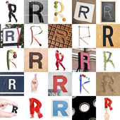 Collage of Letter R — Stock Photo