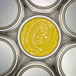 Stock Photo: Yellow Paint can