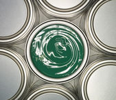Green Paint can — Stock Photo