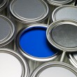 Paint cans full frame — Stock Photo #4663498
