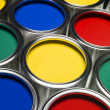 Paint cans full frame — Stock Photo #4663520