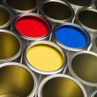 Full Frame Paint Cans — Stock Photo