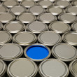 Full Frame of Paint Cans — Stock Photo