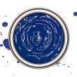 Blue Paint can - Stock Photo