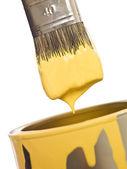 żółty pędzel z bliska — Zdjęcie stockowe