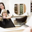 Stock Photo: Hairdresser and customer