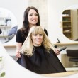 Hairdresser and customer — Stock Photo #5377469