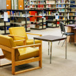 University library yellow chairs — Stock Photo #3928992