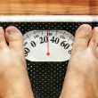 Obese feet on scale — Stock Photo #4259106