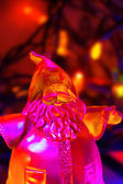 Illuminated Santa vertical — Stock Photo