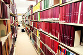 Row of red books — Stock Photo