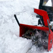 Snowblowing - Stock Photo