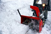 Snowblowing — Stock Photo