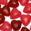 Bunch of jelly heart shape candy — Stock Photo