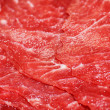 Thin slices of red meat — Stock Photo