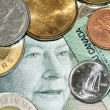Money face and coins - Stock Photo