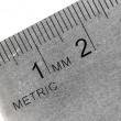 Stock Photo: Metric stainless steel ruler