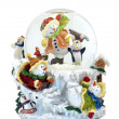 Stock Photo: Musical snowmen snowglobe
