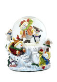 Musical snowmen snowglobe — Stock Photo