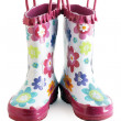 Little girl gumboots — Stock Photo #5152488