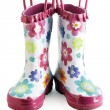 Little girl gumboots — Stock Photo