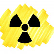 Danger radioactivity symbol — Stock Photo