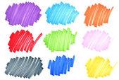 Bunte tinte doodles — Stockfoto
