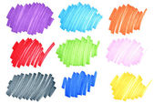 Inchiostro colorato doodles — Foto Stock