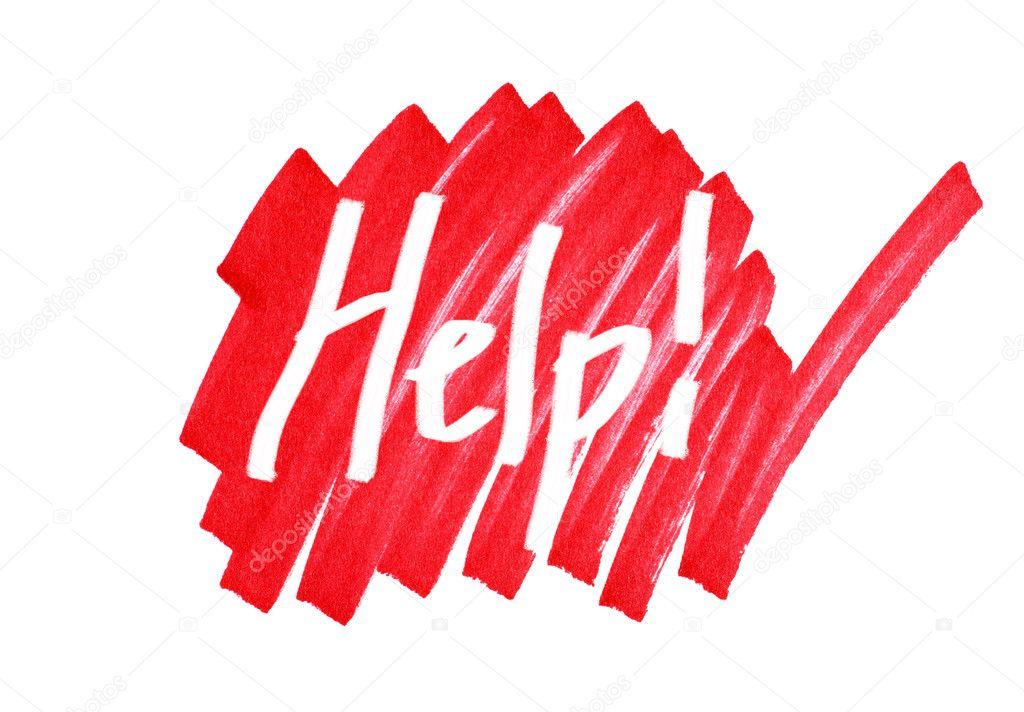 Graphic help sign — Stock Photo © Mirage3 #5184056