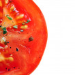 Stock Photo: Seasoned tomato slice